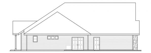 Gladstone - 30-786 - Cottage Home Plan - Left Elevation
