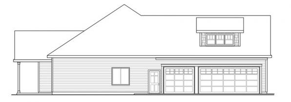 Willamette - 30-788 - Cottage Home Plan - Left Elevation
