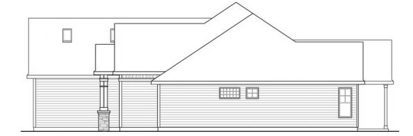 Willamette - 30-788 - Cottage Home Plan - Right Elevation