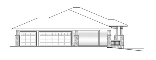 Northshire - 30-808 - Prairie Home Plan - Left Elevation