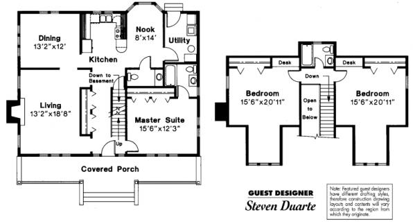 Alhambra - 41-001 - Craftsman Home Plans - Floor Plan