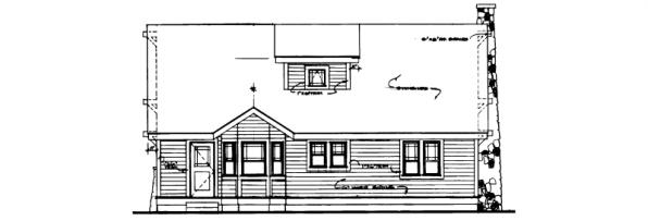 Alhambra - 41-001 - Craftsman Home Plans - Rear Elevation