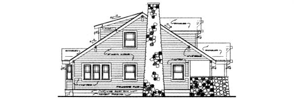 Alhambra - 41-001 - Craftsman Home Plans - Left Elevation