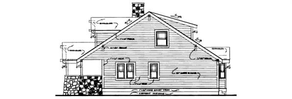 Alhambra - 41-001 - Craftsman Home Plans - Right Elevation