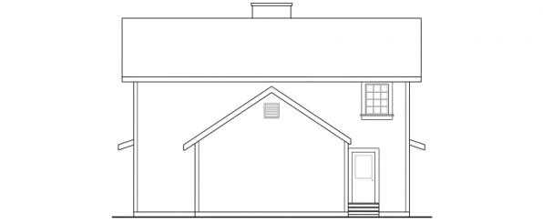 Eldora - 41-005 - Country Home Plans - Rear Elevation