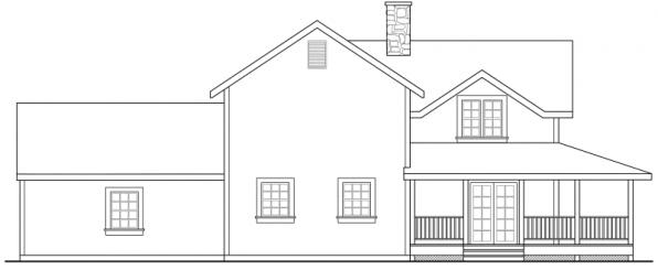 Eldora - 41-005 - Country Home Plans - Left Elevation