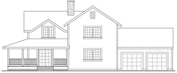 Eldora - 41-005 - Country Home Plans - Right Elevation