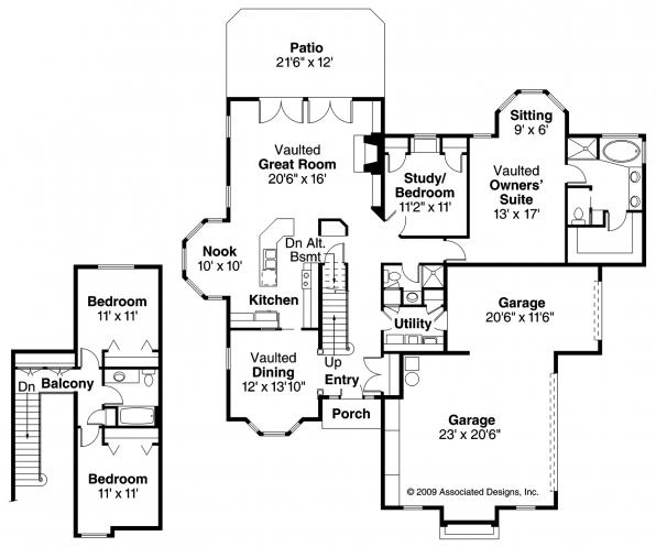 Wichita - 10-254 - Traditional Home Plan - Floor Plan
