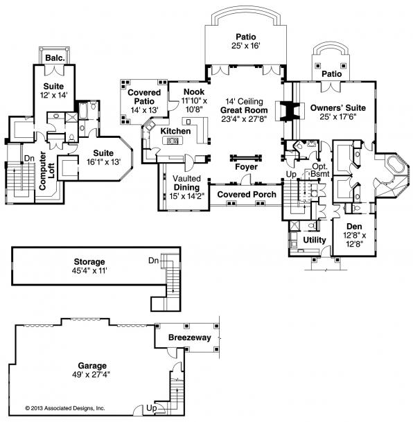 Everheart - 10-440 - Estate Home Plan - Floor Plan