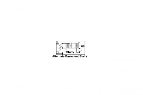 2 Story House Plan - Wilsonville 30-517 - Alternate Basement Stair