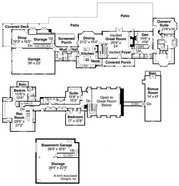 Brookfield - 30-646 - Country Home Plan - Floor Plan