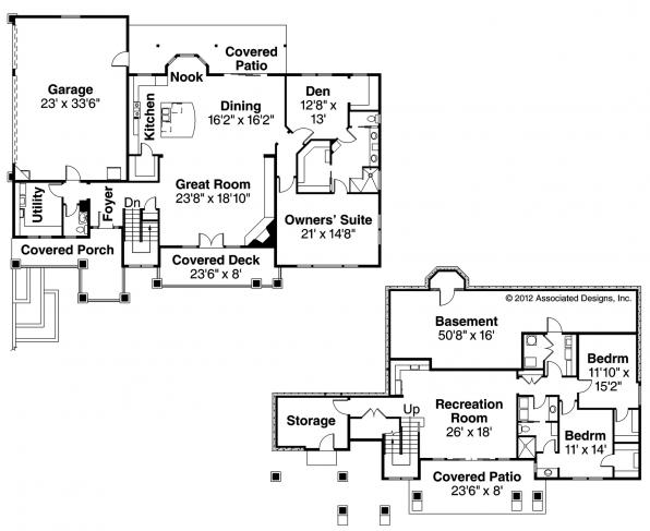 Northshire - 30-808 - Prairie Home Plans - Floor Plan