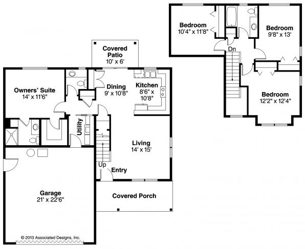 Paisley - 30-852 - Country Home Plan - Floor Plan