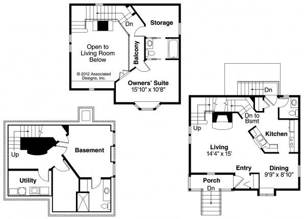Langston - 42-027 - Victorian Home Plans - Floor Plan