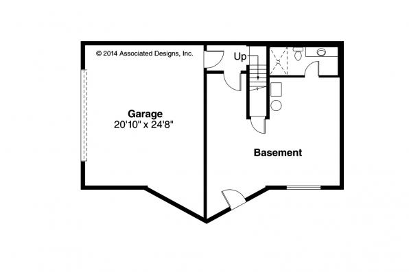 A-Frame House Plan - Eagle Rock 30-919 - Basement Floor Plan