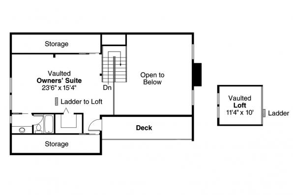 A-Frame House Plan - Cascade 10-034 - 2nd Floor Plan