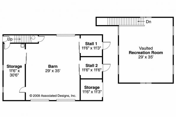 Barn Plan 20-059 - Floor Plan