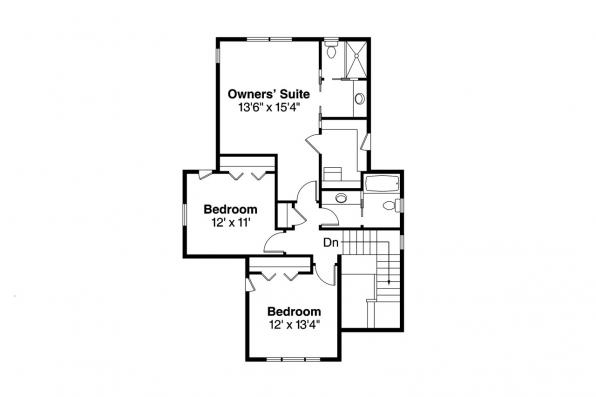 Bungalow Home Plan - Greenwood 70-001 - 2nd Floor Plan