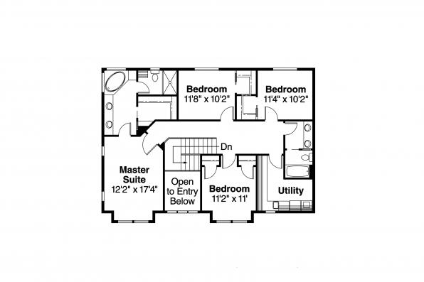 Bungalow House Plan - Cavanaugh 30-490 - 2nd Floor Plan