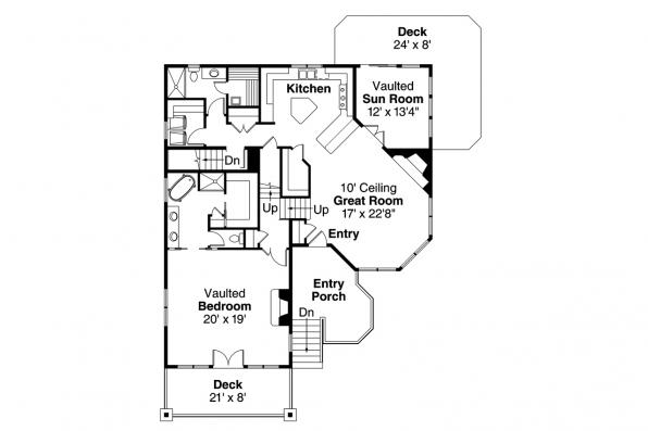 Cape Cod House Plan - Cedar Hill 30-895 - Main Floor Plan