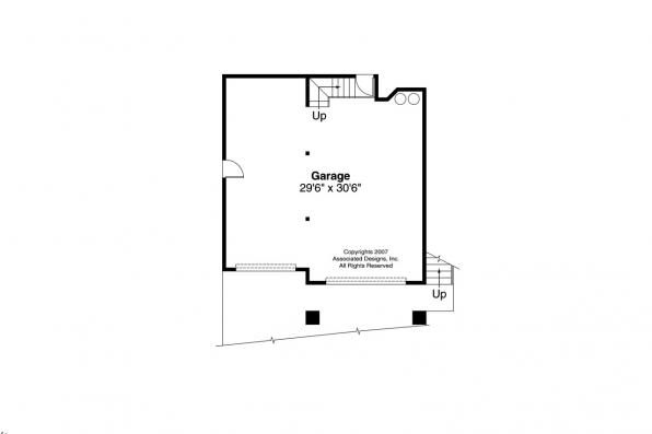 Cape Cod House Plan - Covington 30-131 - Garage Floor Plan