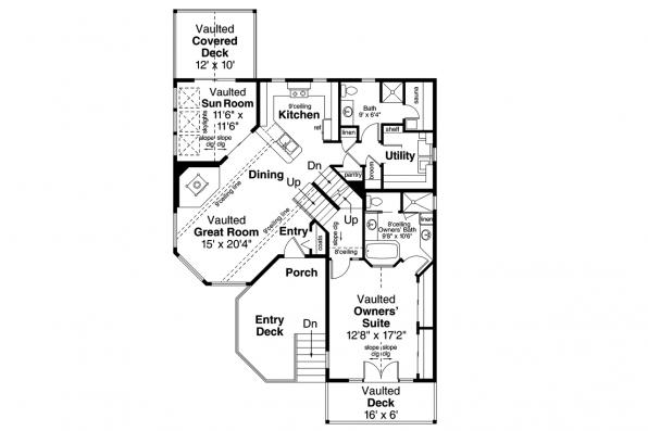 Cape Cod House Plan - Sherbrooke 30-371 - 1st Floor Plan