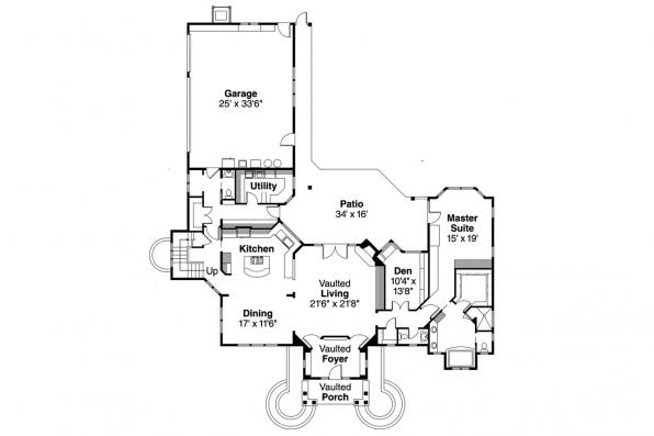 Chalet House Plan - Oxford 30-451 - 1st Floor Plan