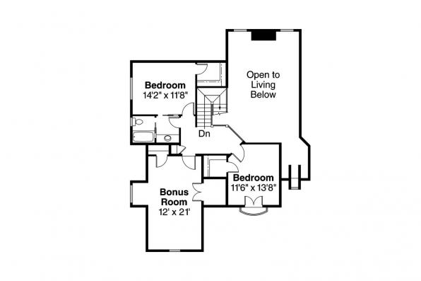 Chateau House Plan - Wedgewood 30-629 - 2nd Floor Plan