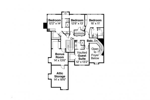 Classic House Plan - Bellingham 30-429 - 2nd Floor Plan
