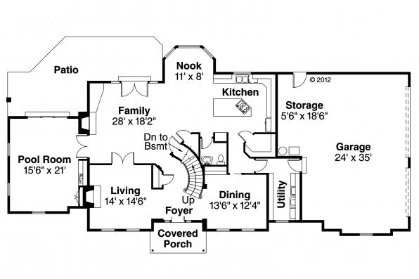 Classic house plans kersley 30 041 associated designs Classic house plans