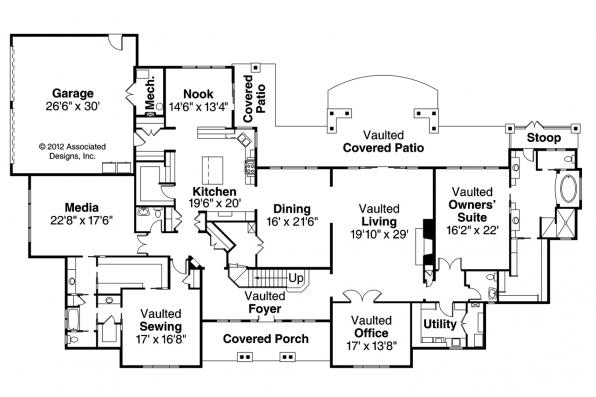 Classic House Plan - Laurelwood 30-722 - 1st Floor Plan
