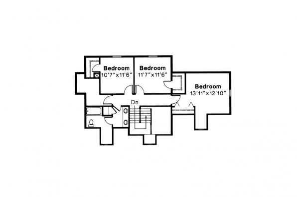 Colonial House Plan - Namskaket 42-002 - 2nd Floor Plan