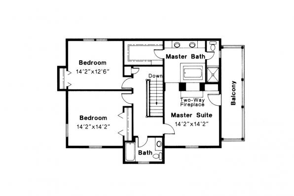 Colonial House Plan - Rossford 42-006 - 2nd Floor Plan