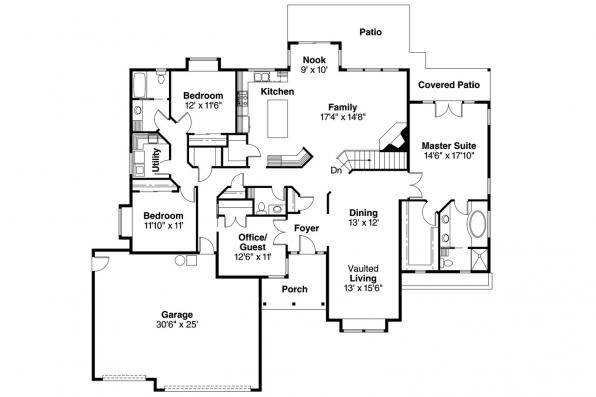 Contemporary House Plan - Anniston 10-304 - Floor Plan