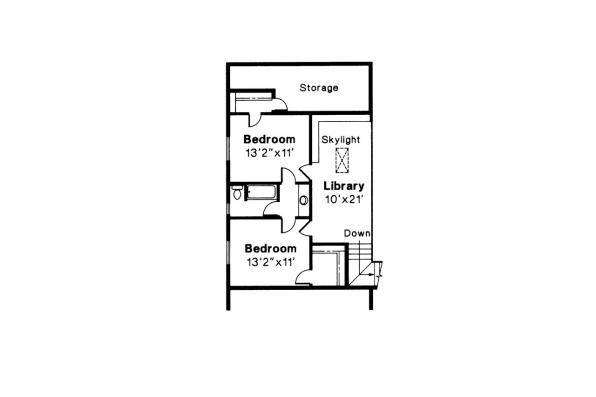 Contemporary House Plan - Brazos 51-001 - 2nd Floor Plan