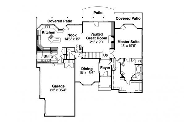 Contemporary House Plan - Centralia 30-164 - 1st Floor Plan