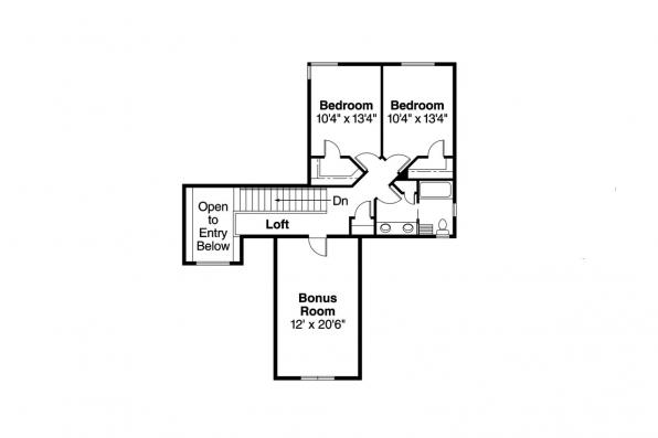 Contemporary House Plan - Cranston 30-539 - 2nd Floor Plan