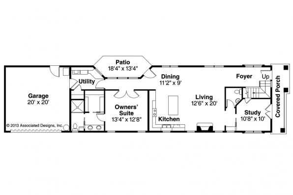 Contemporary House Plan - Eastlake 30-869 - 1st Floor Plan