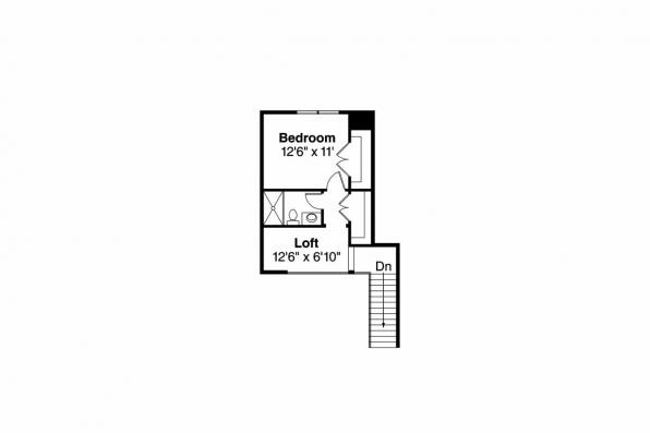 Contemporary House Plan - Fairheart 10-600 - 2nd Floor Plan