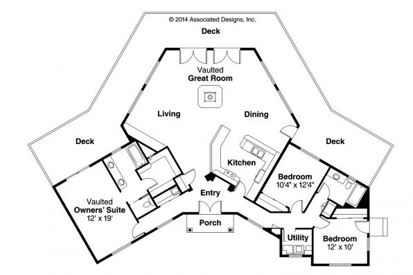 Contemporary House Plan - Forsythia 10-426 - Floor Plan
