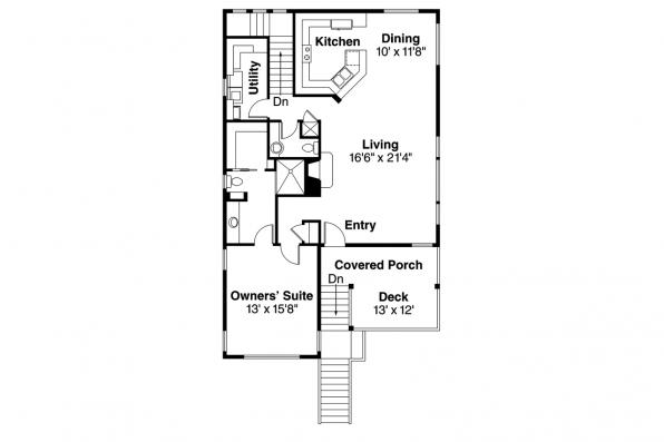 Contemporary House Plan - Glenview 30-687 - 1st Floor Plan