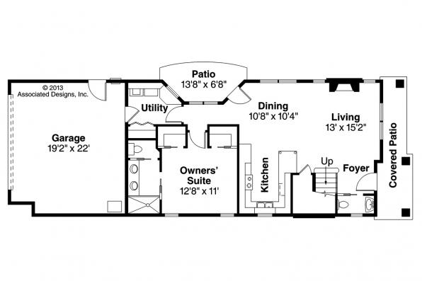 Contemporary House Plan - Larkspur 30-880 - 1st Floor Plan