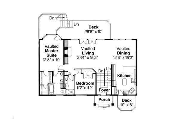 Contemporary House Plan - Matice 30-144 - Main Floor Plan