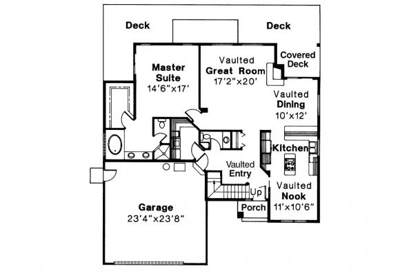 Contemporary House Plan - Mayfield 10-095 - 1st Floor Plan