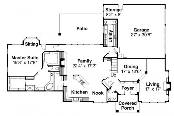 Contemporary House Plan - Middleton 30-135 - 1st Floor Plan