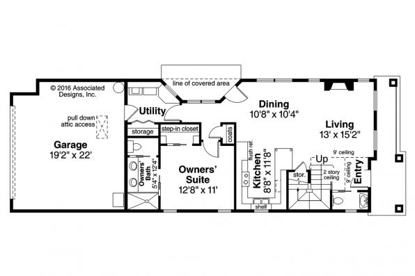 Contemporary House Plan - Montrose 30-823 - 1st Floor Plan
