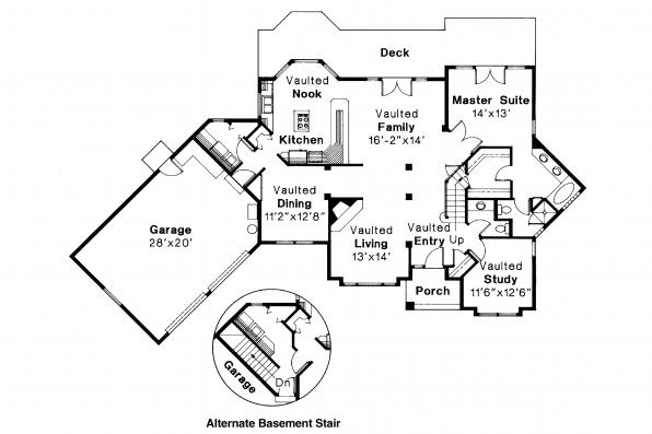 Contemporary House Plan - Normandy 10-050 - 1st Floor Plan