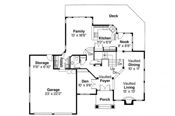 Contemporary House Plan - Parker 30-002 - 1st Floor Plan