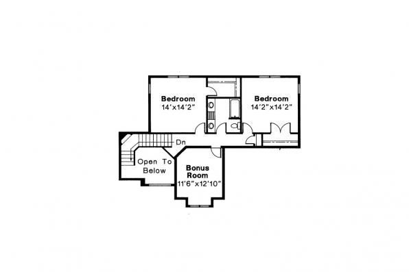 Contemporary House Plan - Providence 10-305 - 2nd Floor Plan