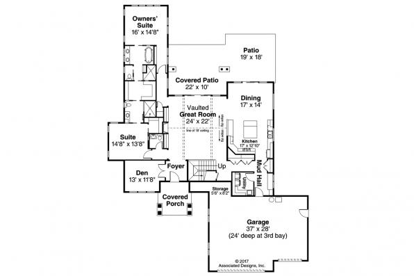 Contemporary House Plan - Quail Ridge 31-060 - First Floor Plan